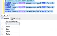 Conflicto con Collation en consultas utilizando UNION ALL en SQL Server
