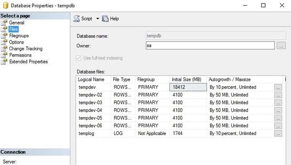Como mover la base de datos TempDB