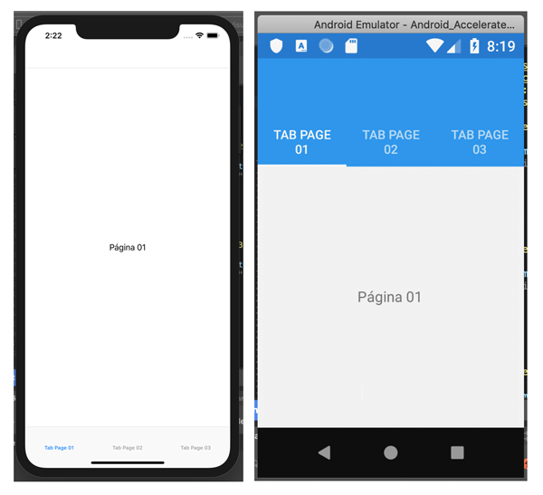 Xamarin Forms - Tabbed Page