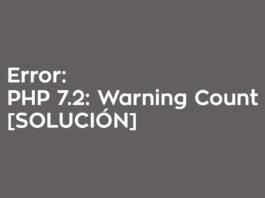 ERROR PHP 7.2