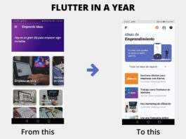 flutter one year